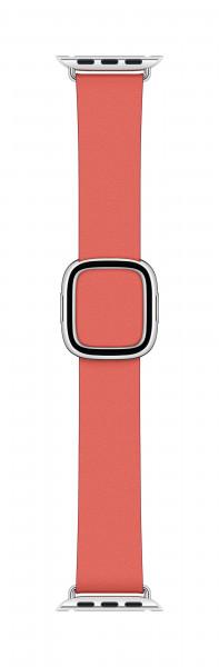 Apple modernes Lederarmband für Watch 40mm zitruspink S