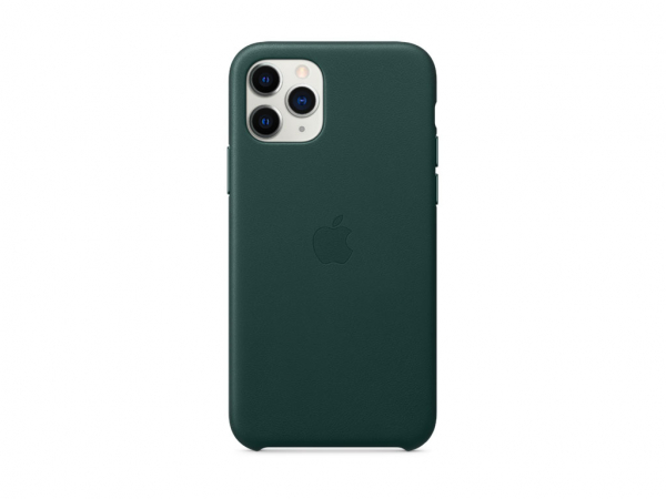 Apple Leder Case iPhone 11 Pro waldgrün