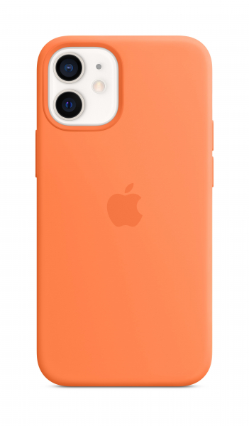 Apple Silikon Case iPhone 12 mini mit MagSafe kumquat