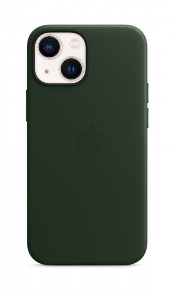 Apple Leder Case iPhone 13 mini mit MagSafe schwarzgrün