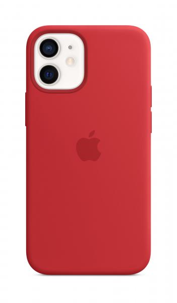 Apple Silikon Case iPhone 12 mini mit MagSafe rot