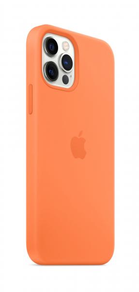 Apple Silikon Case iPhone 12/12 Pro mit MagSafe kumquat