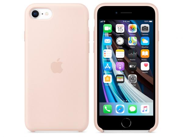 Apple Silikon Case iPhone SE 2 Gen. sandrosa