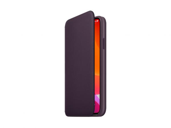 Apple Leder Folio iPhone 11 Pro Max aubergine