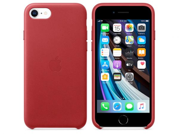 Apple Leder Case iPhone SE 2 Gen. Product red