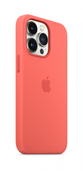 Apple Silikon Case iPhone 13 Pro mit MagSafe pink pomelo