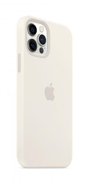 Apple Silikon Case iPhone 12/12 Pro mit MagSafe weiß