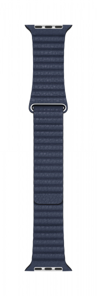 Apple Loop Lederarmband für Watch 44mm taucherblau M