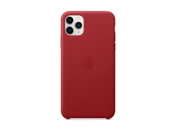 Apple Leder Case iPhone 11 Pro Max rot