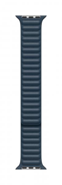 Apple Lederarmband mit Endstück für Watch 44mm baltischblau L
