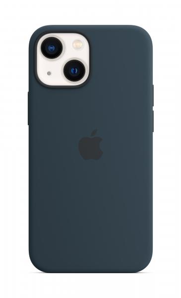 Apple Silikon Case iPhone 13 mini mit MagSafe abyssblau