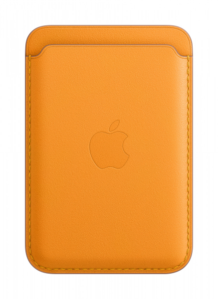 Apple Leder Wallet iPhone mit MagSafe california poppy