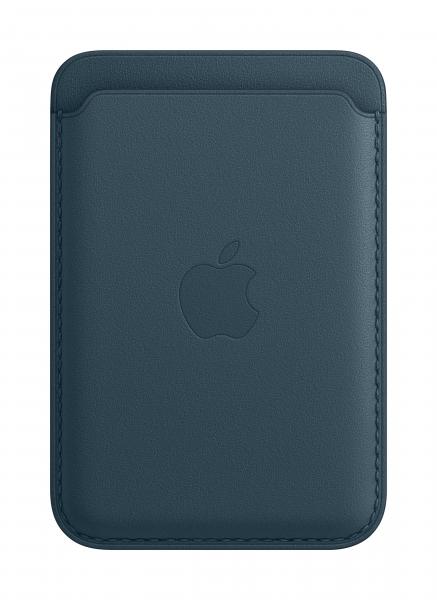 Apple Leder Wallet iPhone mit MagSafe baltischblau