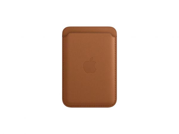 Apple Leder Wallet iPhone mit MagSafe sattelbraun