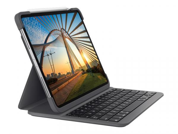 """Logitech Slim Folio Tablet-Case für: iPad pro 12,9"""" 3. Gen. + 4. Gen."""