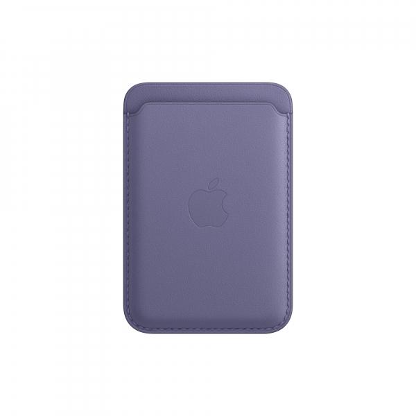 Apple Leder Wallet iPhone mit MagSafe wisteria
