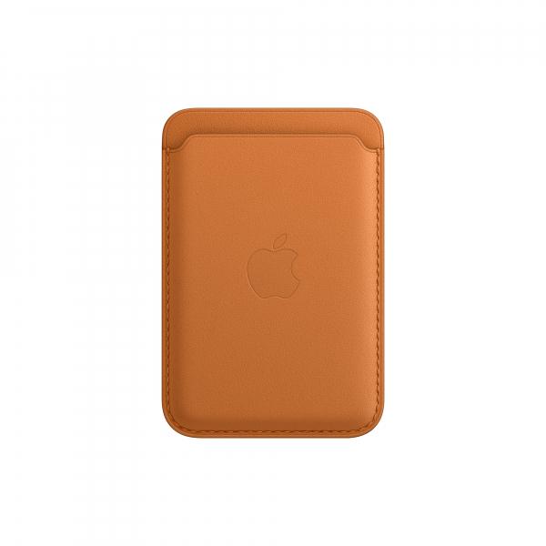 Apple Leder Wallet iPhone mit MagSafe goldbraun