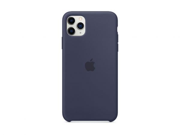 Apple Silikon Case iPhone 11 Pro Max mitternachtsblau