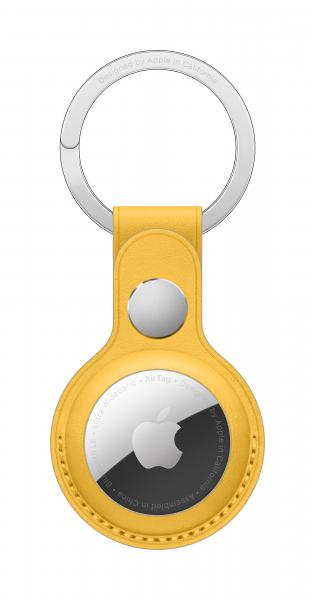 Apple AirTag Schlüsselanhänger aus Leder sonnengelb