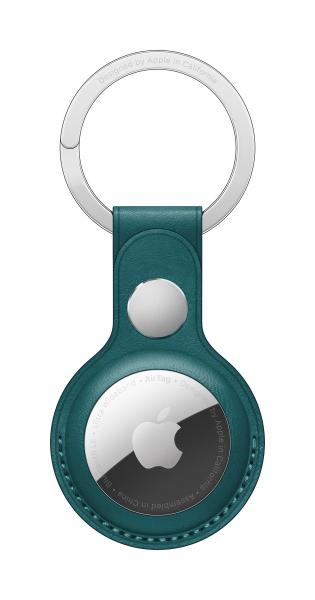 Apple AirTag Schlüsselanhänger aus Leder waldgrün