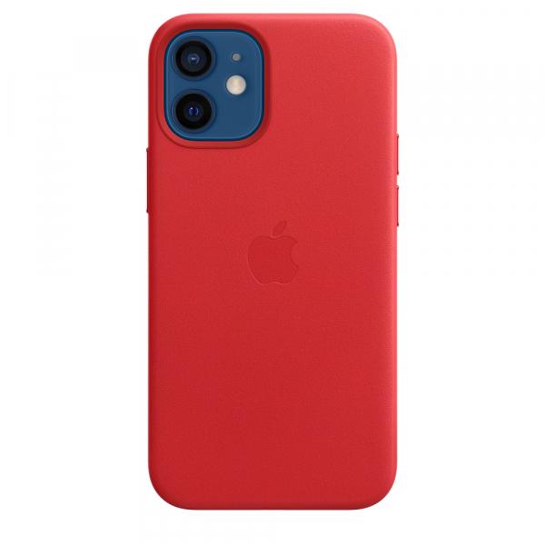Apple Leder Case iPhone 12 mini mit MagSafe rot