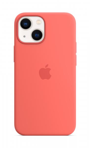 Apple Silikon Case iPhone 13 mini mit MagSafe pink pomelo