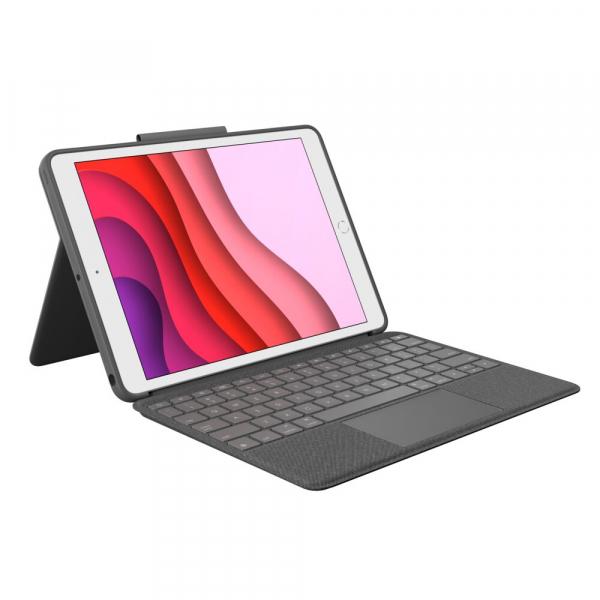 "Logitech Combo Touch Tablet-Case für: iPad 10,2"" 7. Gen. 2019, 8. Gen. 2020"