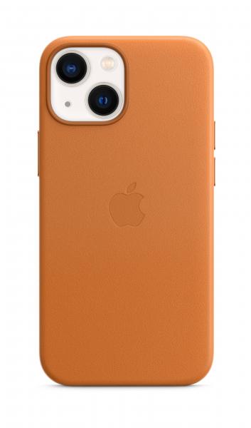 Apple Leder Case iPhone 13 mini mit MagSafe goldbraun