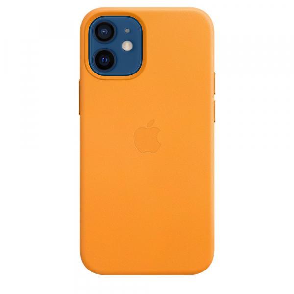 Apple Leder Case iPhone 12 mini mit MagSafe california poppy