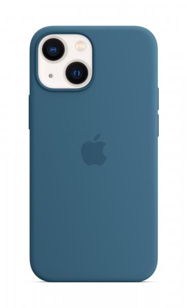 Apple Silikon Case iPhone 13 mini mit MagSafe eisblau
