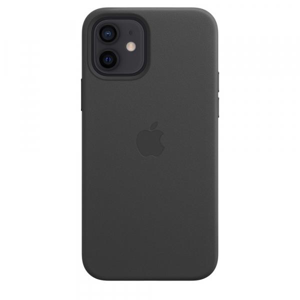 Apple Leder Case iPhone 12/12 Pro mit MagSafe schwarz