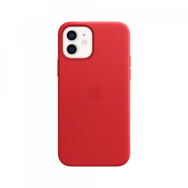 Apple Leder Case iPhone 12/12 Pro mit MagSafe rot