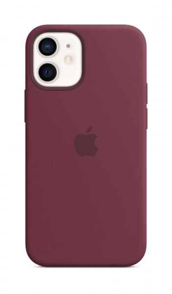 Apple Silikon Case iPhone 12 mini mit MagSafe pflaume