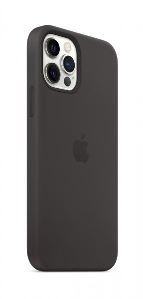 Apple Silikon Case iPhone 12/12 Pro mit MagSafe schwarz