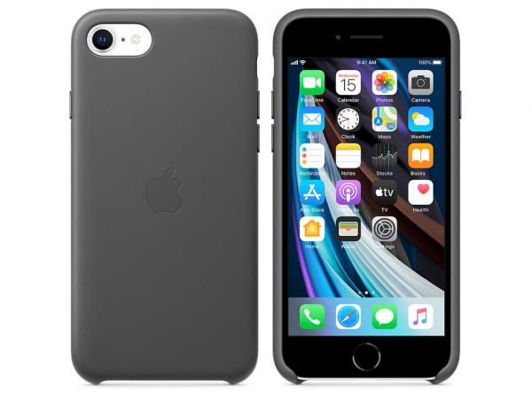 Apple Leder Case iPhone SE 2 Gen. schwarz