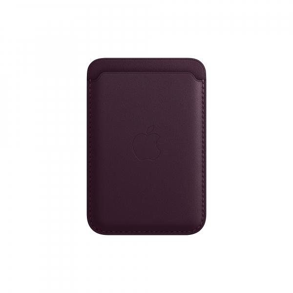 Apple Leder Wallet iPhone mit MagSafe dunkelkirsch