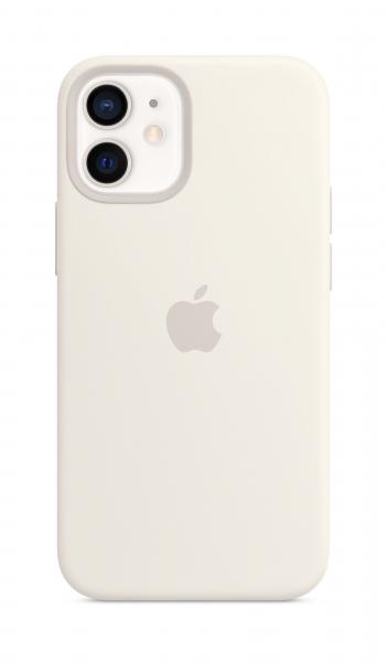 Apple Silikon Case iPhone 12 mini mit MagSafe weiß