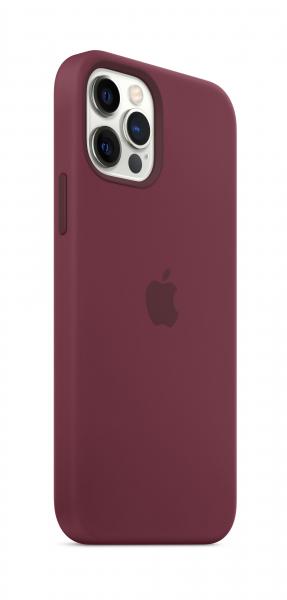 Apple Silikon Case iPhone 12/12 Pro mit MagSafe pflaume