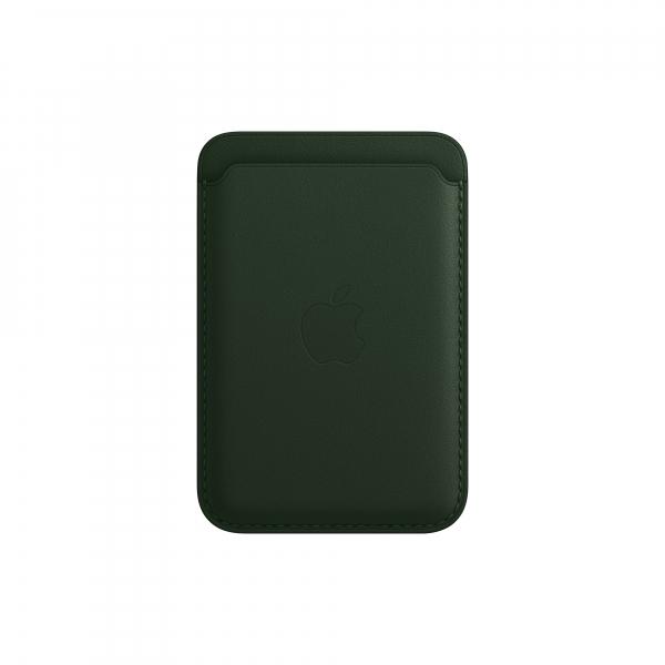 Apple Leder Wallet iPhone mit MagSafe schwarzgrün