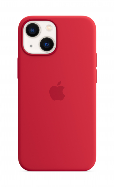 Apple Silikon Case iPhone 13 mini mit MagSafe rot