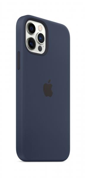 Apple Silikon Case iPhone 12/12 Pro mit MagSafe dunkelmarine