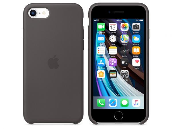 Apple Silikon Case iPhone SE 2 Gen. schwarz
