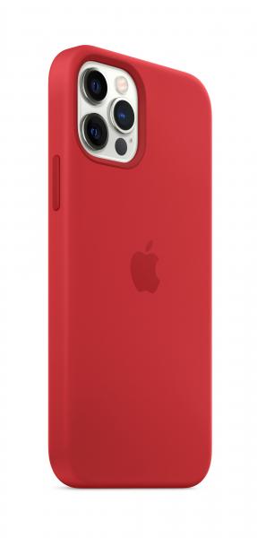 Apple Silikon Case iPhone 12/12 Pro mit MagSafe rot