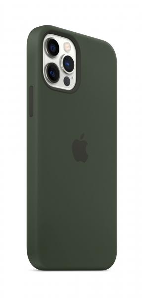 Apple Silikon Case iPhone 12/12 Pro mit MagSafe zyperngrün