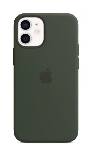 Apple Silikon Case iPhone 12 mini mit MagSafe zyperngrün