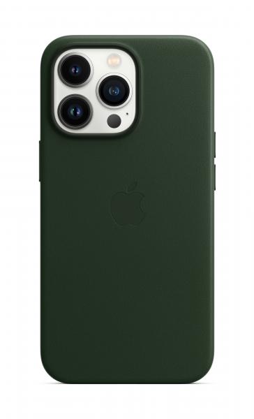 Apple Leder Case iPhone 13 Pro mit MagSafe schwarzgrün
