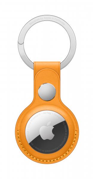 Apple AirTag Schlüsselanhänger aus Leder california Poppy