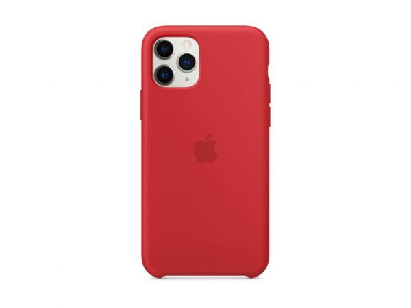 Apple Silikon Case iPhone 11 Pro rot