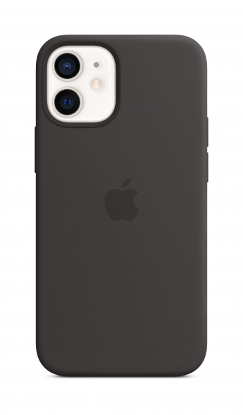 Apple Silikon Case iPhone 12 mini mit MagSafe schwarz