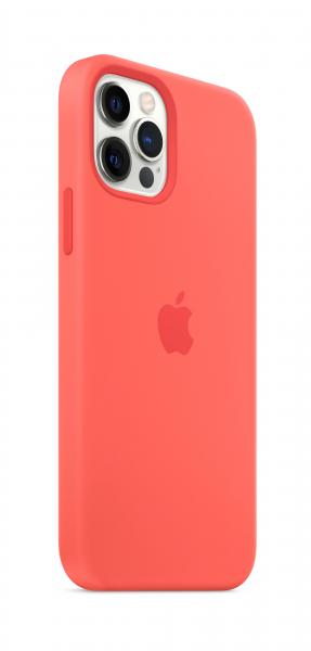 Apple Silikon Case iPhone 12/12 Pro mit MagSafe zitruspink